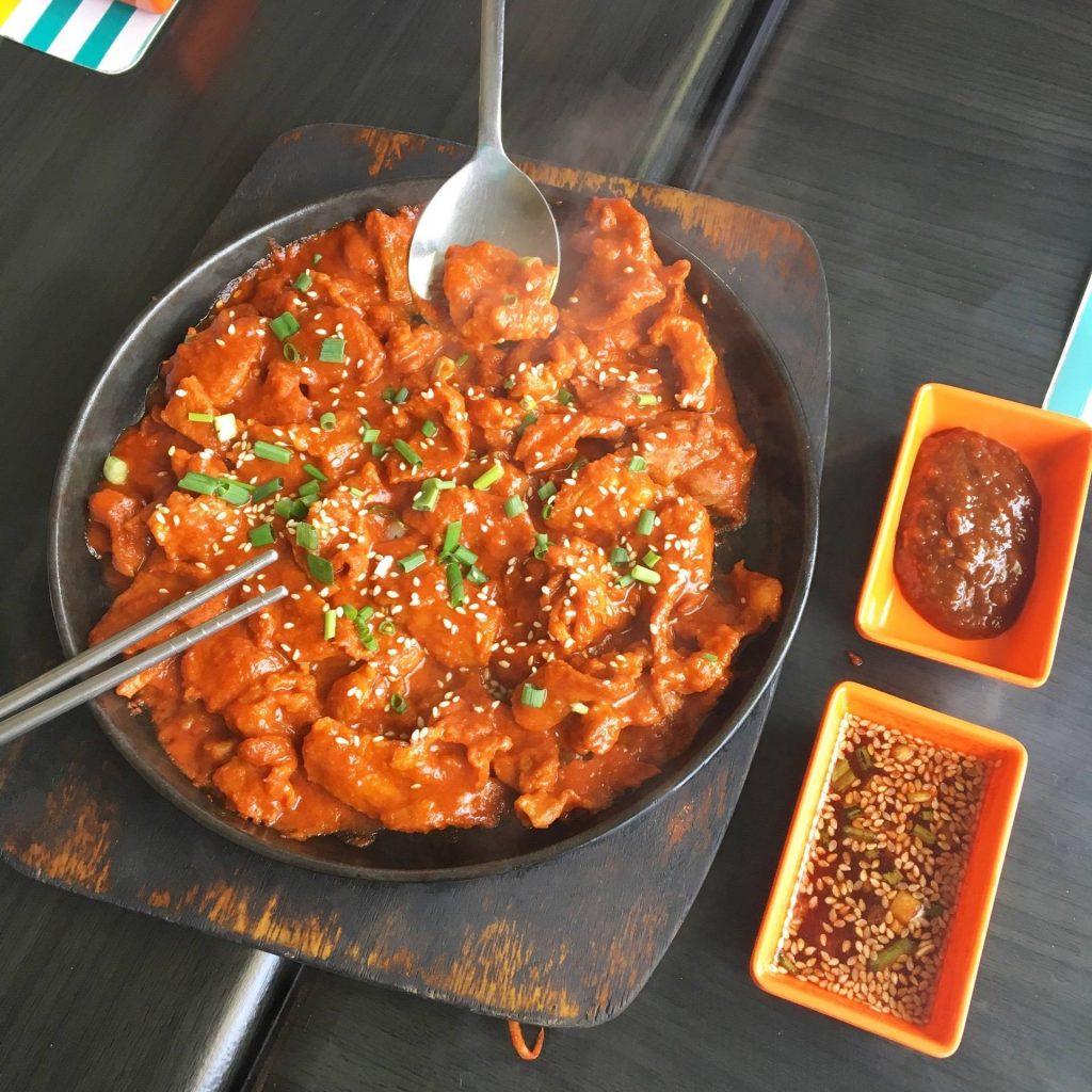 อาหารที่ทำจากโคชูจัง