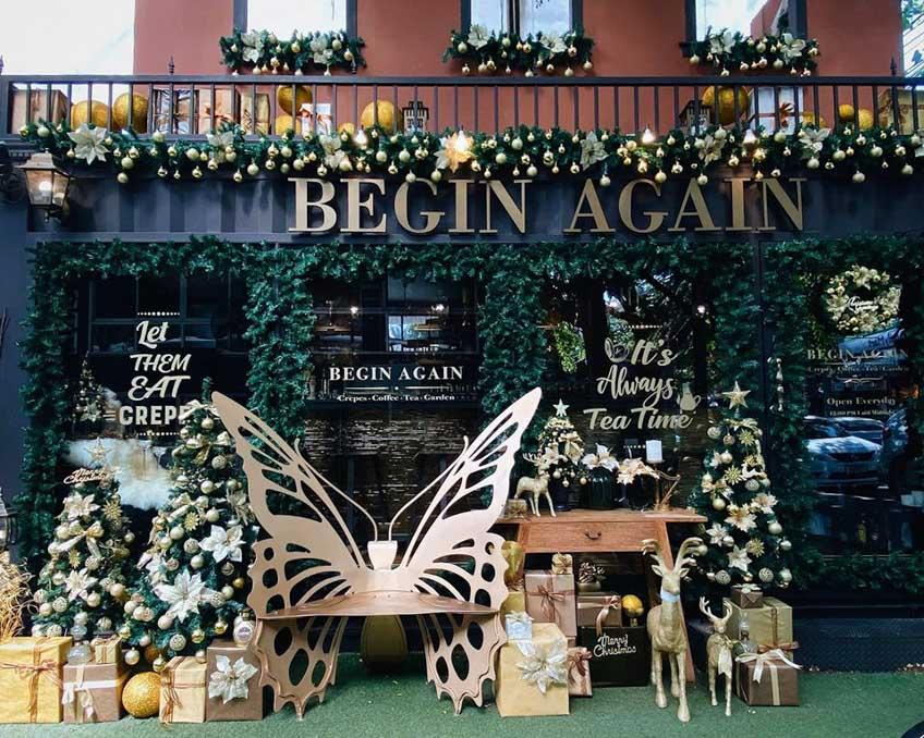 คาเฟ่เมืองกรุง ธีมคริสต์มาส Begin Again