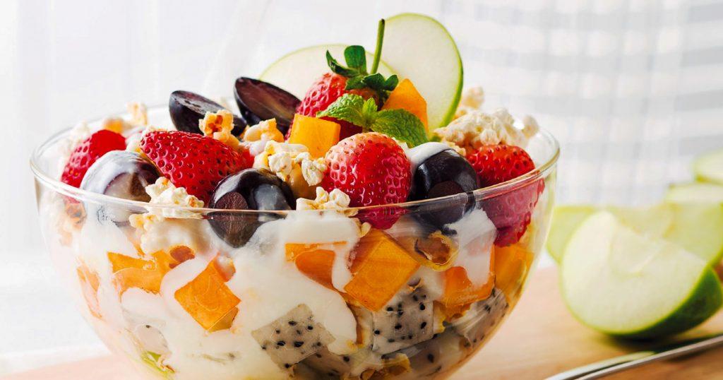 ไอเดียอาหารมื้อเช้า  โยเกิร์ต ผลไม้