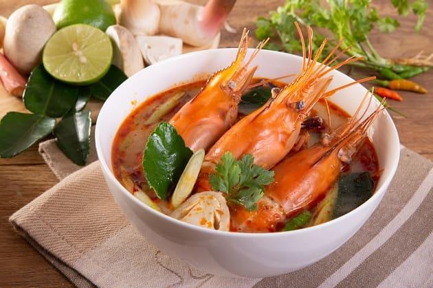 เมนู ต้มยำกุ้ง อาหารจานเด็ดของไทย